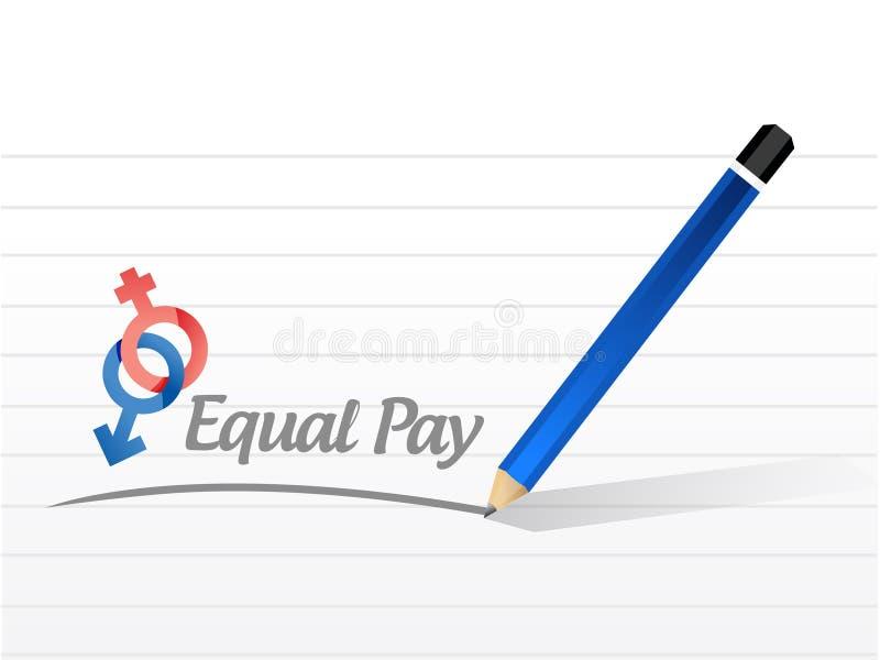 Ilustração do sinal da mensagem do pagamento igual ilustração royalty free
