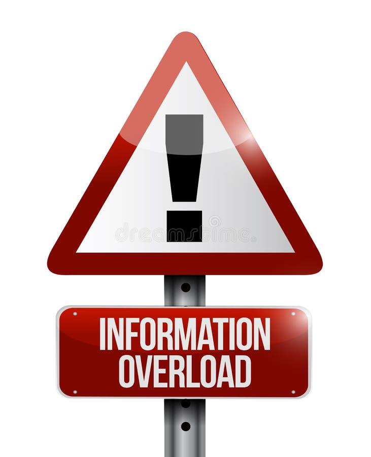 Ilustração do sinal de aviso da sobrecarga de informação ilustração stock