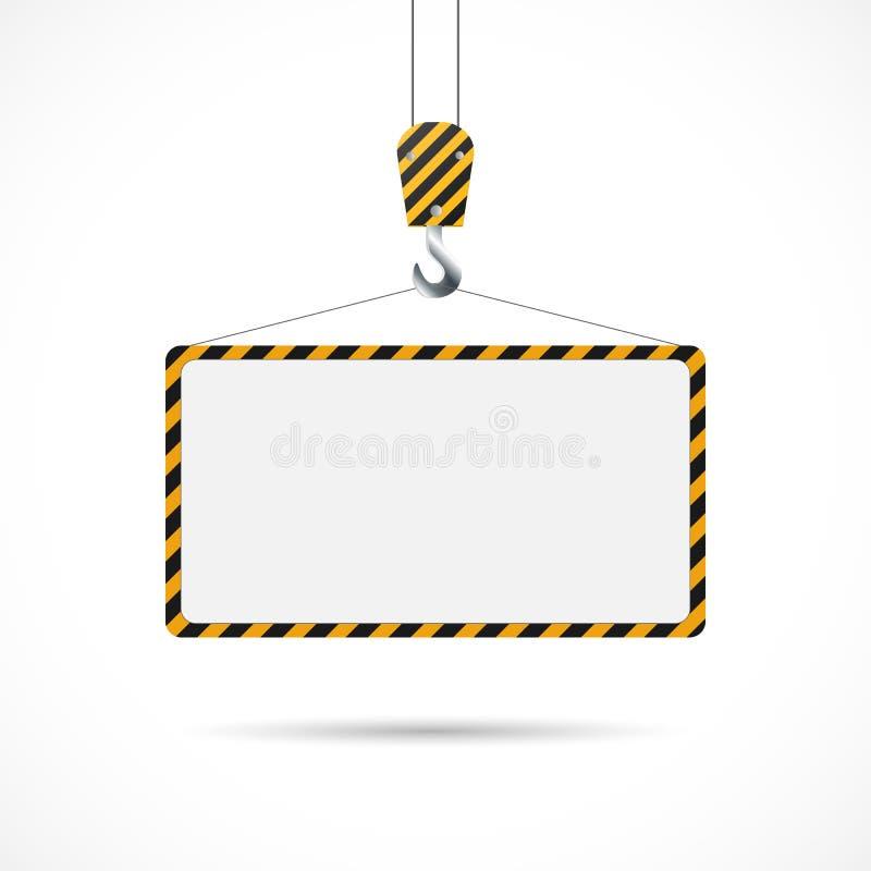 Ilustração do sinal de estrada da construção ilustração royalty free