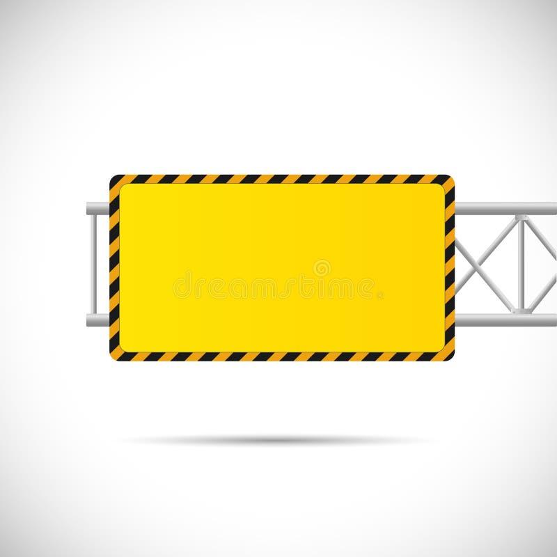 Ilustração do sinal de estrada da construção ilustração stock