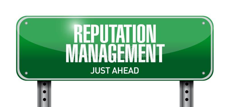 ilustração do sinal de estrada da gestão da reputação ilustração do vetor