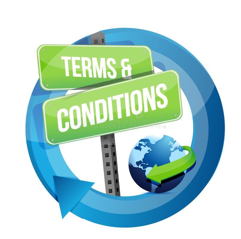 Ilustração do sinal de estrada dos termos e condições ilustração royalty free