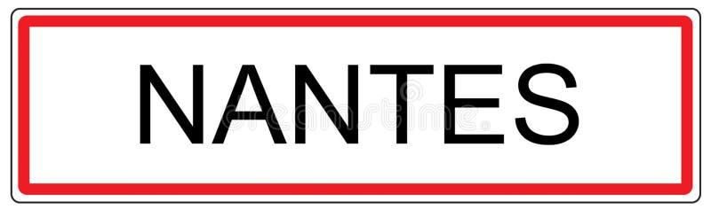 Ilustração do sinal de tráfego da cidade de Nantes em França ilustração stock
