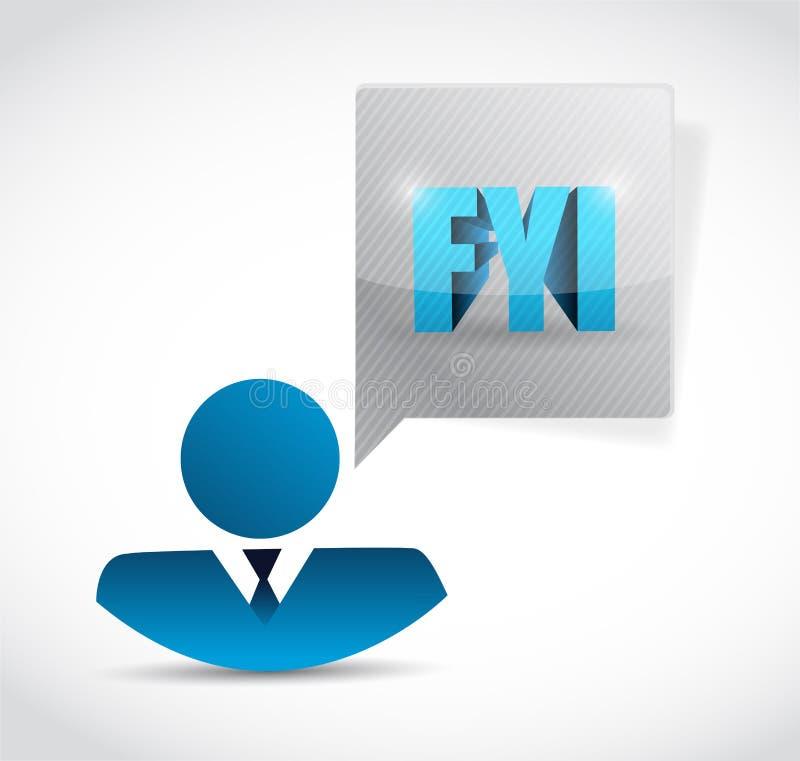 ilustração do sinal do avatar do For Your Information do FYI ilustração stock