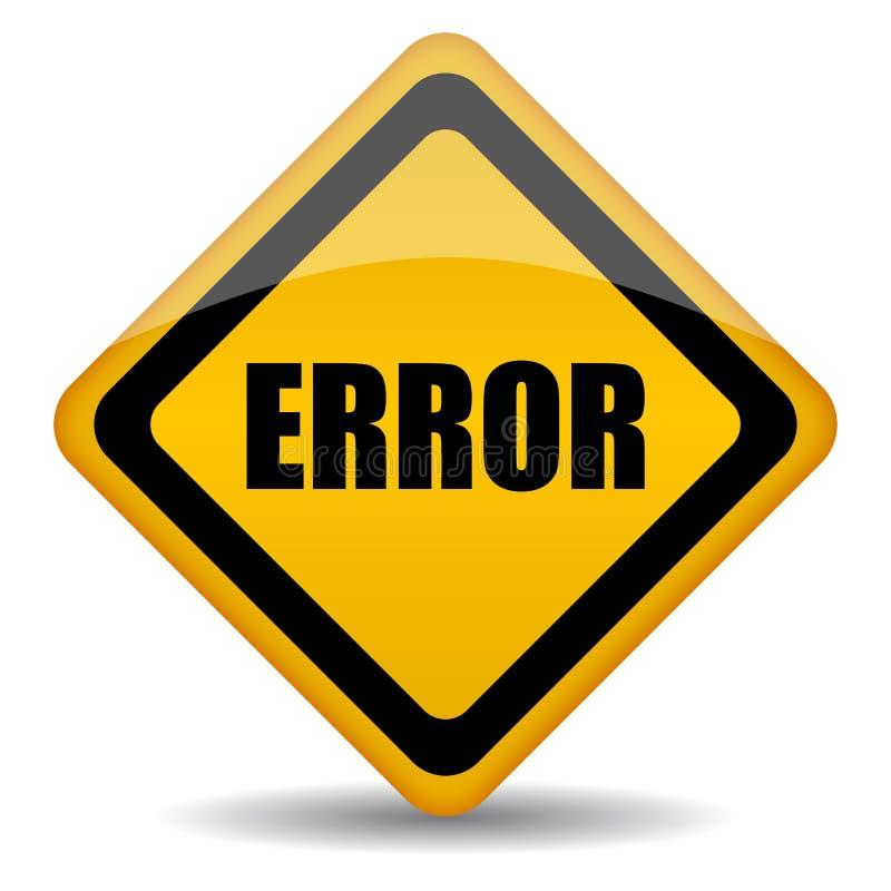 Ilustração do sinal do erro ilustração do vetor