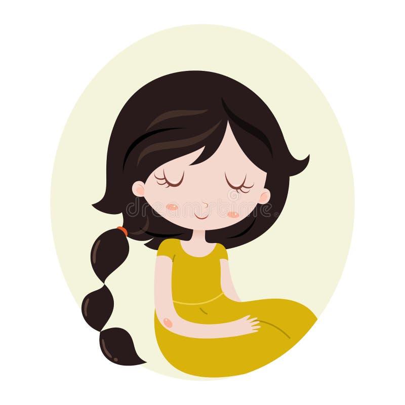 Ilustração do sinal do zodíaco da Escorpião como uma menina bonita Ilustração do vetor isolada no branco ilustração stock