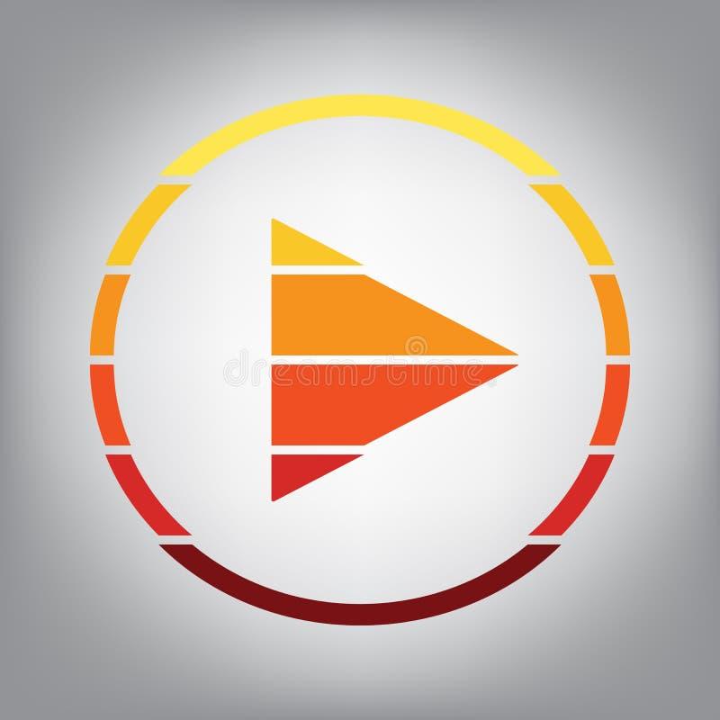 Ilustração do sinal do jogo Vetor Ícone horizontalmente cortado com co ilustração royalty free