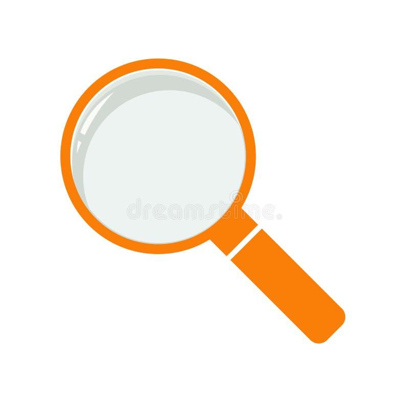 Ilustração do sinal do zumbido Ícone alaranjado no fundo branco ilustração royalty free