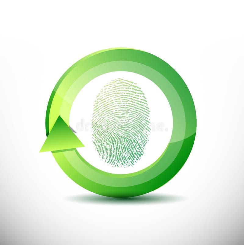 Ilustração do software do reconhecimento da impressão digital ilustração stock