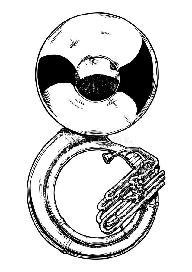 Ilustração do sousaphone ilustração stock