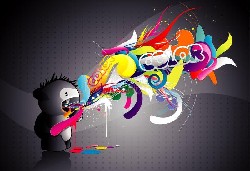 Ilustração do sumário da cor do monstro ilustração stock