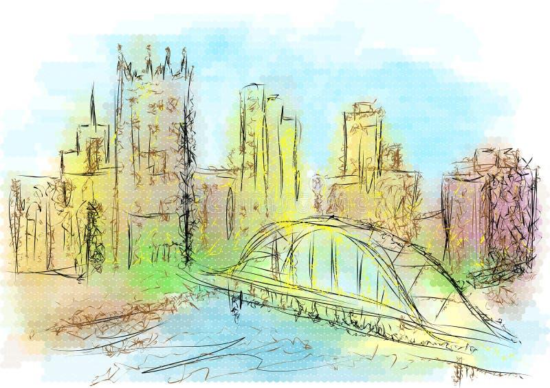 Ilustração do sumário de Pittsburgh ilustração do vetor