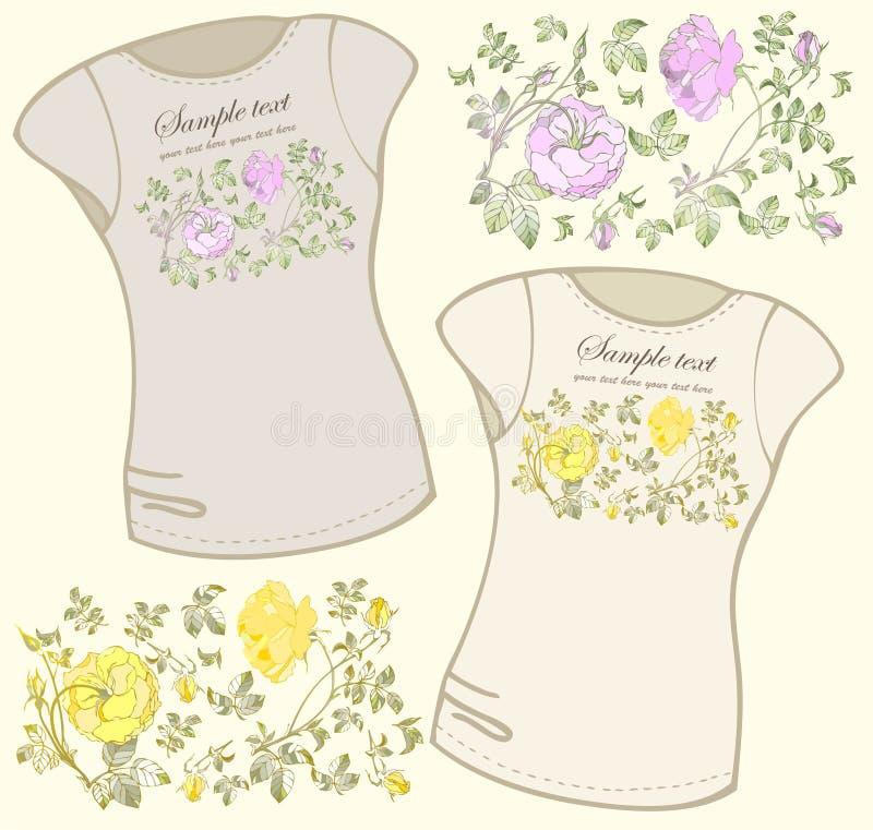 Ilustração do t-shirt das mulheres. ilustração royalty free