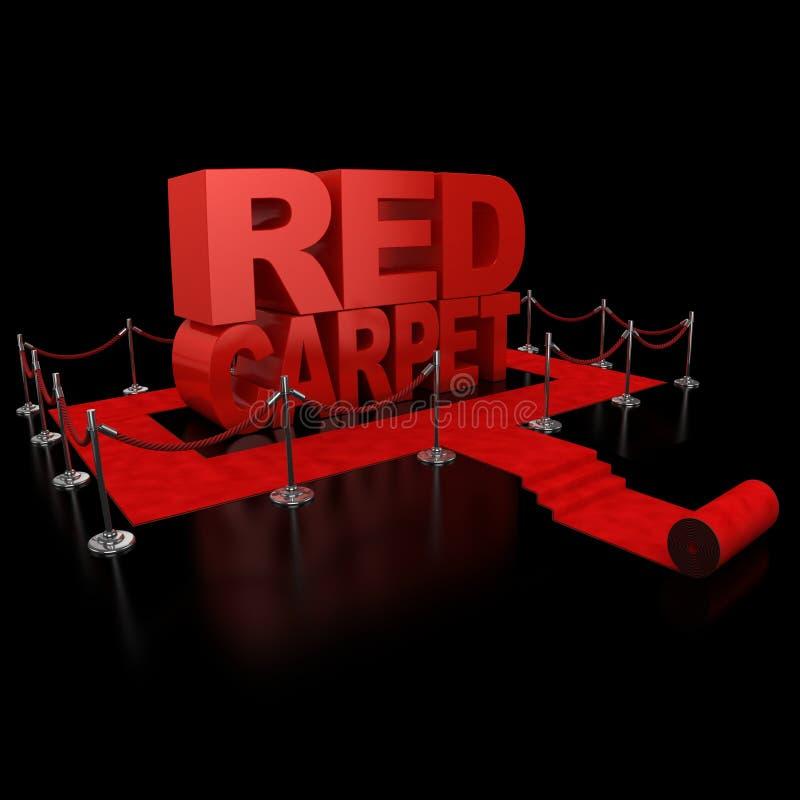 Ilustração do tapete vermelho 3d ilustração stock