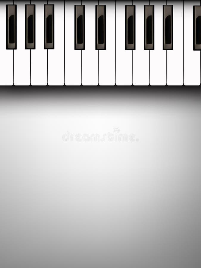 Ilustração do teclado de piano do vetor ilustração do vetor
