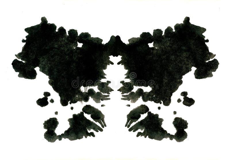 Ilustração do teste da mancha de tinta de Rorschach ilustração stock