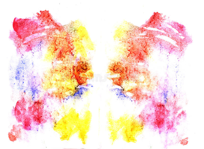 Ilustração do teste da mancha de tinta de Rorschach ilustração royalty free