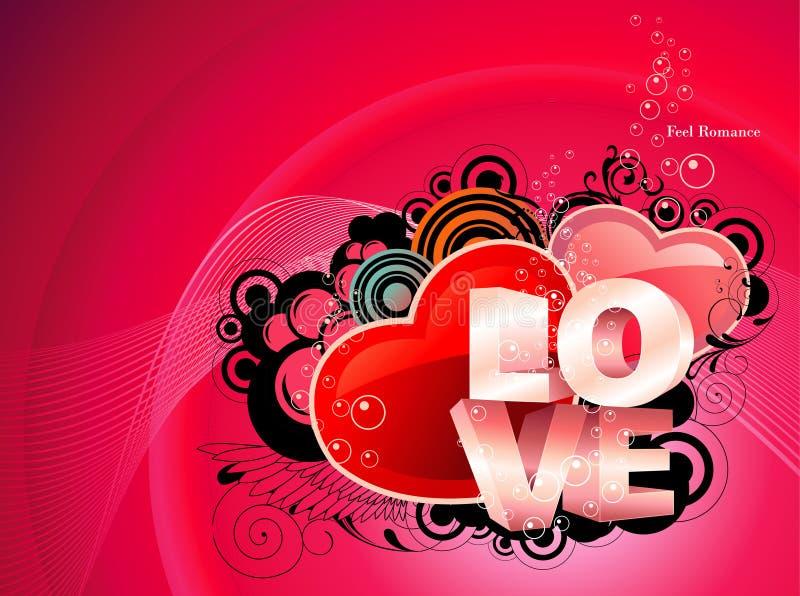 Ilustração do texto do amor ilustração stock