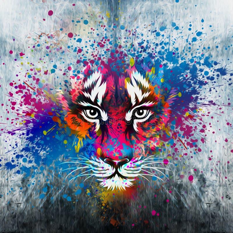 Ilustração do tigre irritado ilustração do vetor