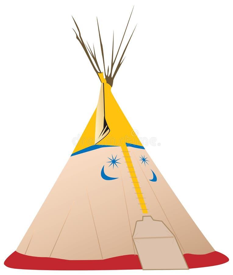 Ilustração do Tipi do vetor - nativo americano ilustração royalty free