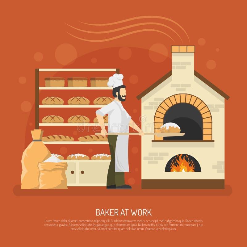 Ilustração do trabalho da padaria ilustração stock