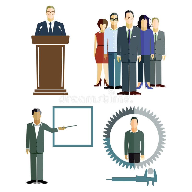 Ilustração do treinamento ilustração do vetor