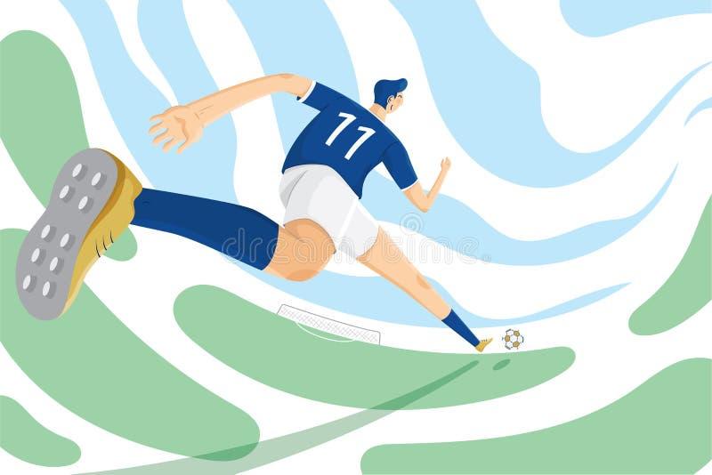 Ilustração do treinamento técnico do esporte do futebol ilustração do vetor