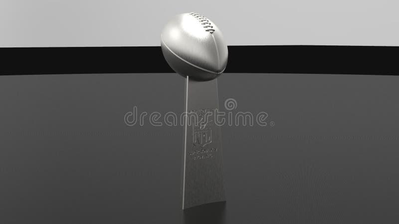 Ilustração do troféu 3d de Vince Lombardi foto de stock