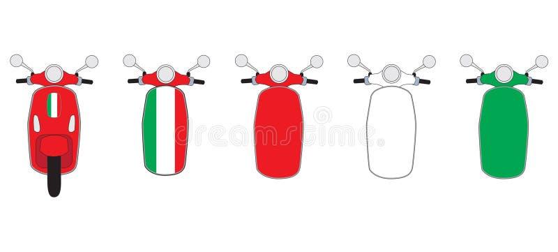 Ilustração do 'trotinette' do Vespa fotografia de stock