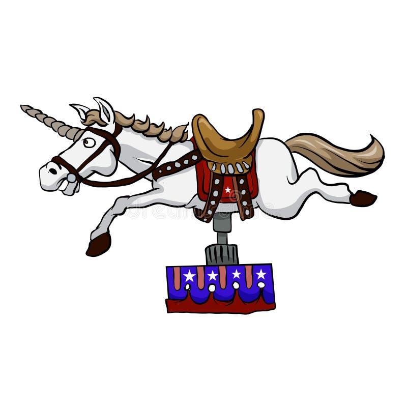 Ilustração do unicórnio mecânico Cavalo mecânico ilustração stock