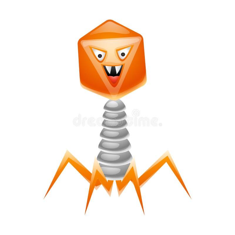 Ilustração do vírus do bacteriófago ilustração do vetor
