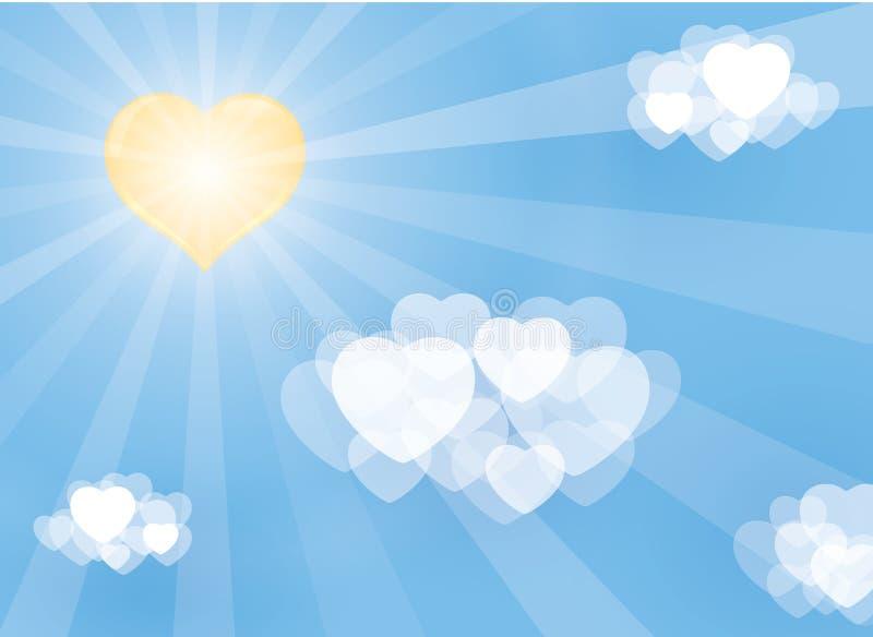 Ilustração do Valentim dos corações ilustração do vetor