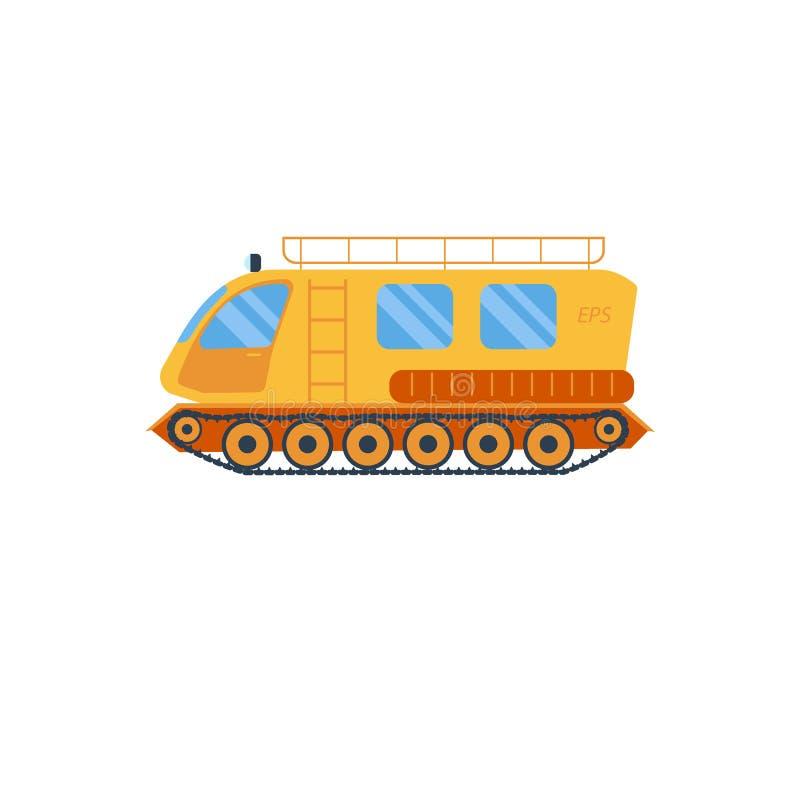 Ilustração do vechicle do corta-mato Caminhão isolado do atv Fora do veículo de estrada Atv de serviço público exterior ilustração stock