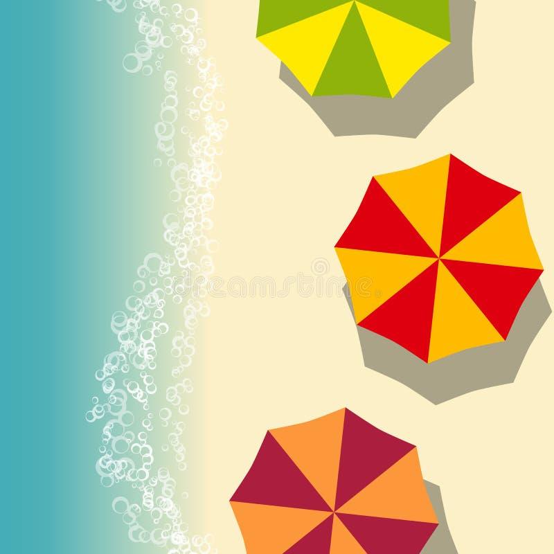 Ilustração do verão da praia ilustração royalty free
