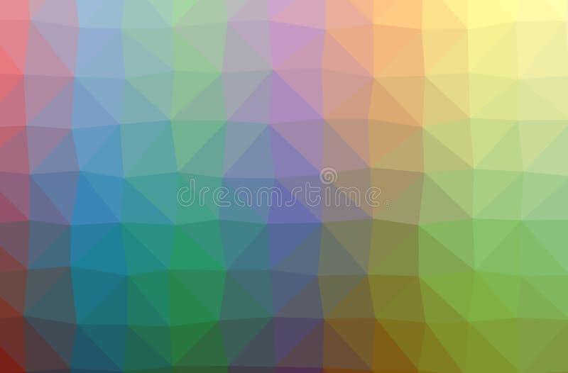 Ilustração do verde abstrato, roxo, baixo fundo poli horizontal vermelho Teste padrão bonito do projeto do polígono ilustração do vetor