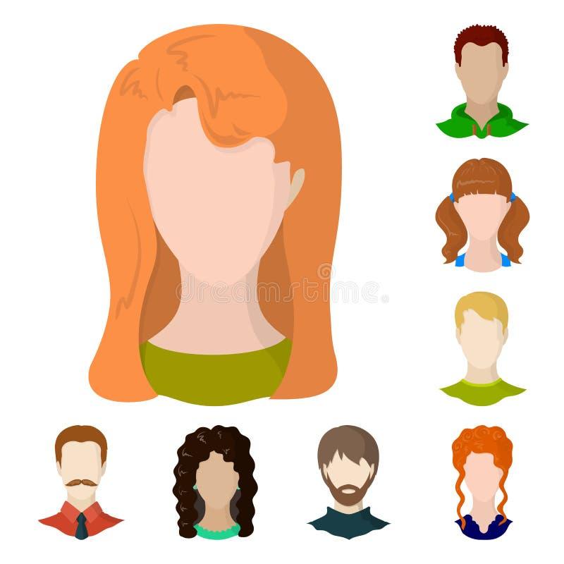 Ilustração do vetor do ícone do avatar e do manequim Coleção do avatar e da figura ilustração do vetor do estoque ilustração stock