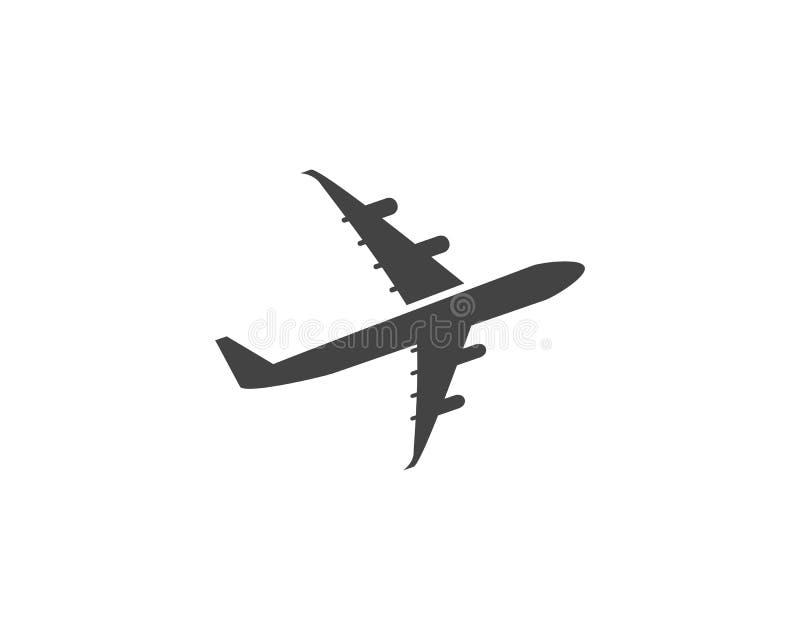 Ilustração do vetor do ícone do avião ilustração do vetor