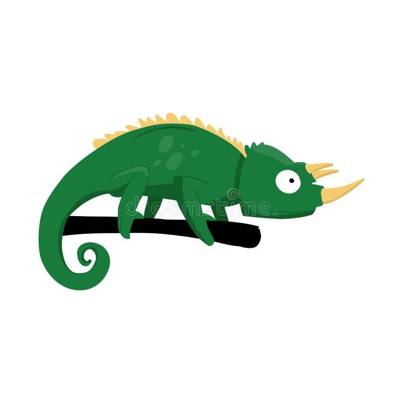 Ilustração do vetor do ícone do camaleão e do lagarto Ajuste do símbolo de ações do camaleão e do arco-íris para a Web ilustração stock