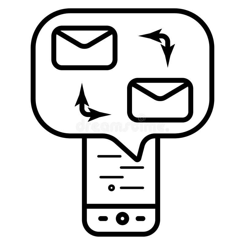 Ilustração do vetor do ícone da troca do correio ilustração stock