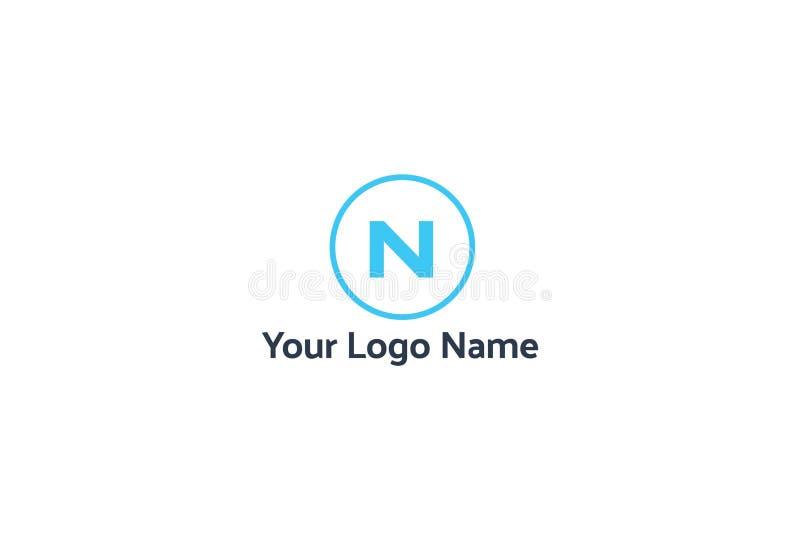 Ilustração do vetor do alfabeto N Logo Design ilustração do vetor