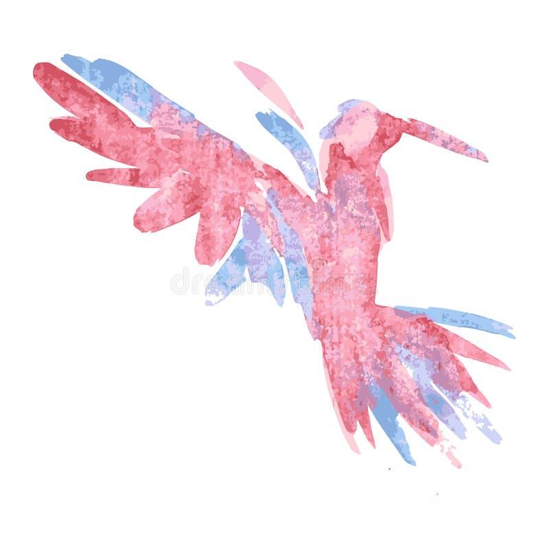 ilustração do vetor do Aquarela-estilo do pássaro ilustração do vetor