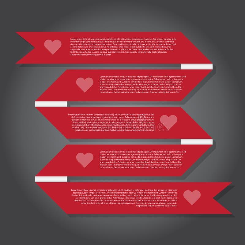 Ilustração do vetor, bandeira da fita para o trabalho do projeto ilustração do vetor