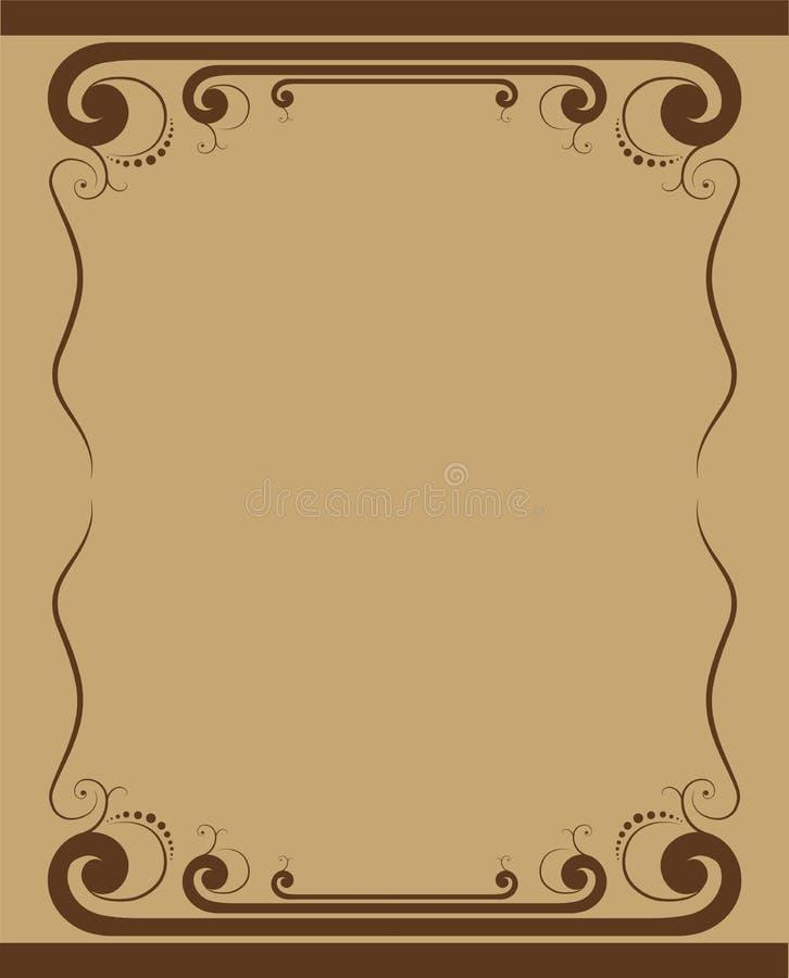 Ilustração do vetor - beira decorativa ilustração royalty free