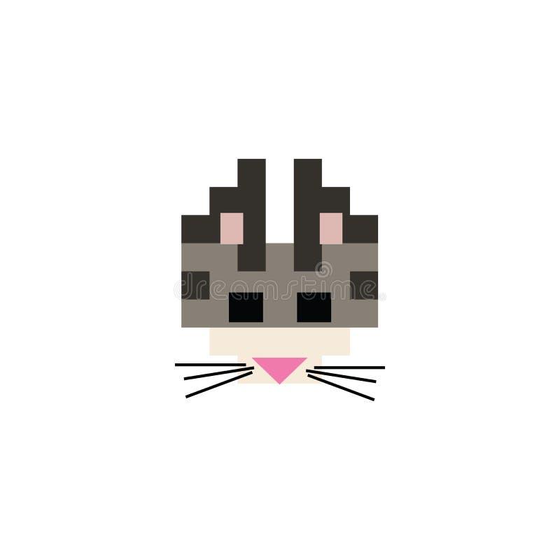 Ilustração do vetor bengal de 8 bits em forma de gato Pixel feline pet clipart ilustração do vetor