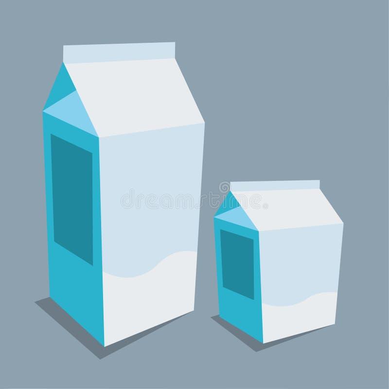 Ilustração do vetor do bloco do papel do leite imagens de stock