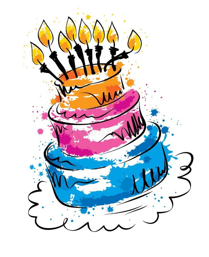 Ilustração do vetor -- bolo engraçado ilustração royalty free