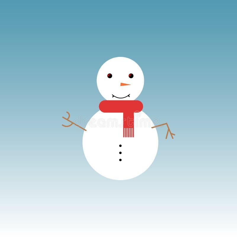 Ilustração do vetor do boneco de neve ilustração royalty free
