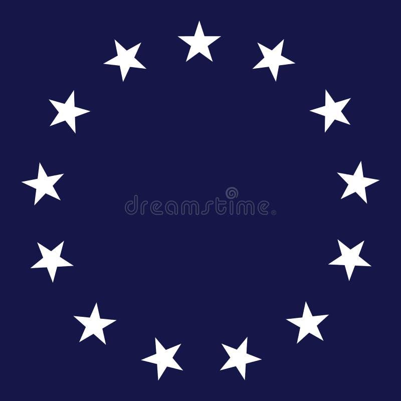 Ilustração do vetor do círculo de 13 estrelas ilustração royalty free
