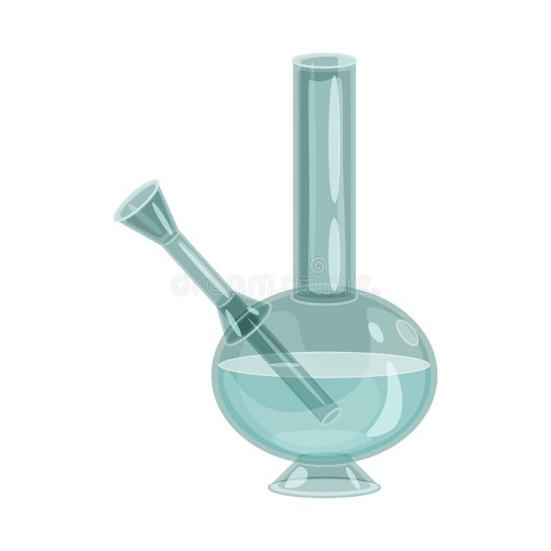 Ilustração do vetor do cachimbo de água e para bong o logotipo Ajuste do ícone do vetor do cachimbo de água e do cigarro para o e ilustração do vetor