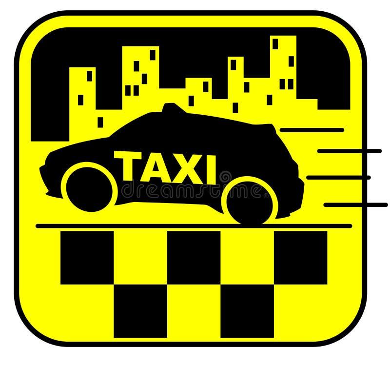 Ilustração do vetor do carro do táxi foto de stock